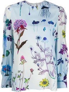 Stella McCartney блузка с цветочным принтом
