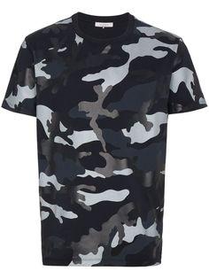 Valentino камуфляжная футболка с круглым вырезом