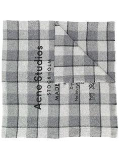 Acne Studios клетчатый шарф