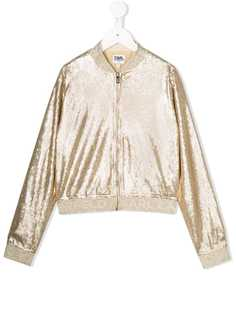 Karl Lagerfeld Kids куртка-бомбер с пайетками