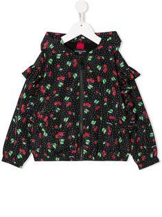Monnalisa куртка с оборками на рукавах и принтом