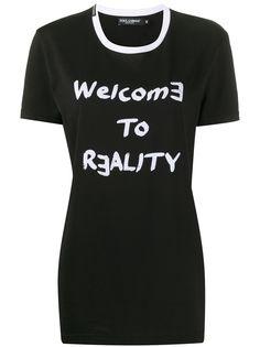 Dolce & Gabbana футболка с принтом Welcome To Reality