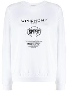 Givenchy толстовка с принтом и круглым вырезом