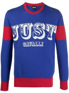 Just Cavalli свитер в стиле колор блок с логотипом