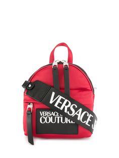 Versace Jeans Couture маленький рюкзак с контрастным логотипом