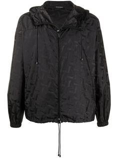 Emporio Armani легкая куртка с жаккардовым узором