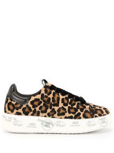 Premiata кроссовки с леопардовым принтом