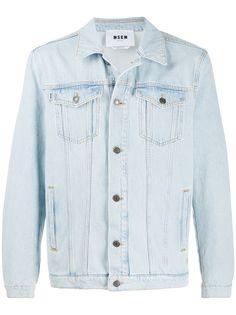 MSGM джинсовая куртка свободного кроя с логотипом