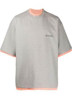 We11done двусторонняя футболка оверсайз