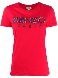 Kenzo футболка в технике пэчворк с логотипом