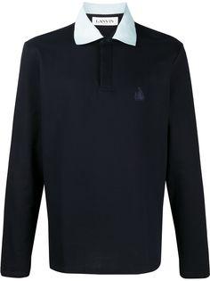 LANVIN рубашка-поло с вышитым логотипом