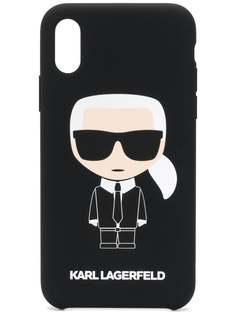 Karl Lagerfeld чехол Karl Ikonik для iPhone X/Xs