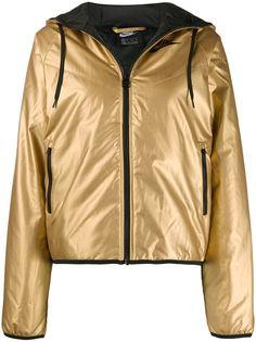 Nike куртка с капюшоном и эффектом металлик
