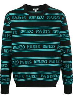 Kenzo свитер с жаккардовым логотипом