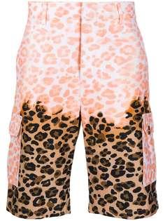 MSGM шорты карго с леопардовым принтом