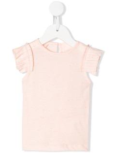 Stella McCartney Kids футболка с оборками на рукавах