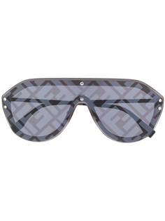 Fendi Eyewear солнцезащитные очки с логотипом на линзах