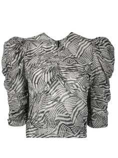Isabel Marant блузка Eddie с абстрактным принтом