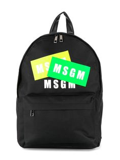 Msgm Kids рюкзак с принтом и логотипом