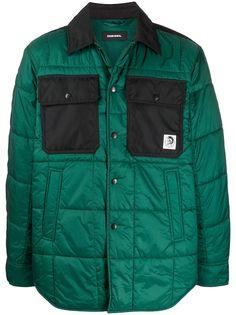 Diesel стеганая куртка-рубашка
