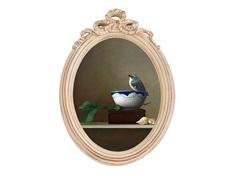 Картина мистер чайкин (object desire) серый 30x45x2 см.