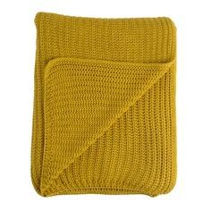 Плед essential (tkano) желтый 130x180 см.