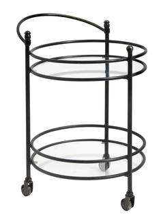Столик на колесиках nord (nordal) черный 44x65x56 см.