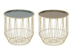Стол, набор 2 шт alphonso (to4rooms) золотой 36.0 см.