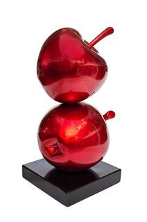 Статуэтка красные яблочки (garda decor) красный 15x35x15 см.