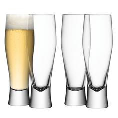 Набор бокалов для пива bar (lsa international) прозрачный 28x21x7 см.