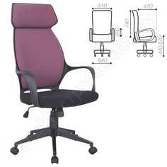 Офисное кресло, ткань, черное/терракотовое brabix galaxy ex-519 531570