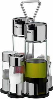 Набор емкостей для масла, уксуса, соли, перца и зубочисток Tescoma