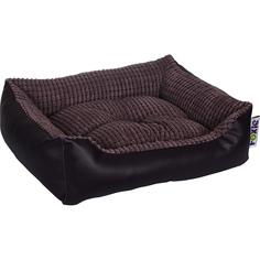 Лежак для животных Foxie Leather 60x50x18 см фиолетовый