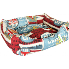 Лежак для собак PRIDE Винтаж Британия 60x50x18 см