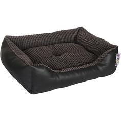 Лежак для животных Foxie Leather 70x60x23 см серый