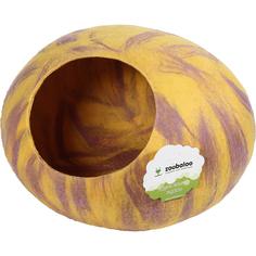Домик-слипер для кошек Zoobaloo WoolPetHouse мультиколор желтый 40x40x20 см