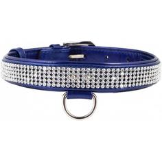 Ошейник для собак COLLAR Brilliance с украшением полотно страз 9 мм 21-29 см Синий