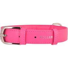 Ошейник для собак COLLAR Glamour без украшений 15 мм 27-36 см Розовый
