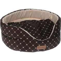 Лежак для кошек Katsu Yohanka shine Cat Paw коричнево-бежевый размер 2 46x32x18 см