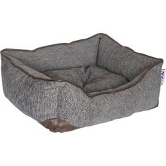 Лежак для животных Foxie Colour 60x50x18 см серый