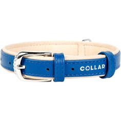 Ошейник для собак COLLAR Brilliance без украшений 25 мм 38-49 см Синий