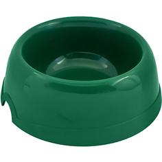Миска для животных ХОРОШКА пластиковая зеленая 100 мл