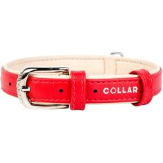 Ошейник для собак COLLAR Brilliance без украшений 20 мм 30-39 см Красный