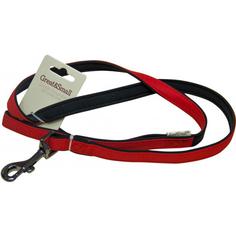 Поводок для собак Great&Small Из высокопрочного рипстопа 10х1200 мм Красный