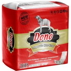 Пояса для кобелей DONO Male Pet Diaper Впитывающие Размер М 10 шт