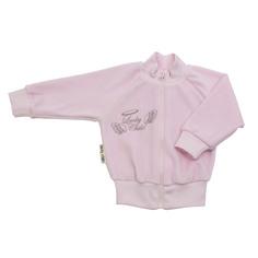 Кофточка Lucky Child из велюра Ангелочки розовая 68-74