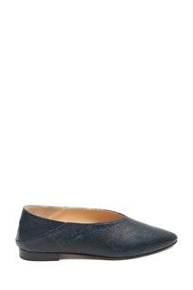 Туфли с анималистичным принтом в сине-черной гамме Marina Rinaldi
