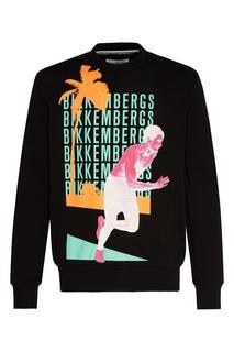 Черный свитшот с логотипами Dirk Bikkembergs