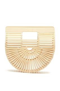 Белая бамбуковая сумка-кроссбоди Gaias Ark