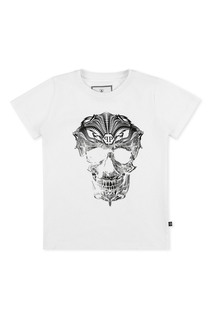 Белая футболка с принтом Philipp Plein